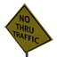 No Thru Traffic Symbol Style
