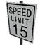 Speed Limit - 15 mph Symbol Style