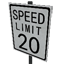 Speed Limit - 20 mph Symbol Style