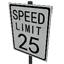 Speed Limit - 25 mph Symbol Style