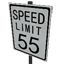 Speed Limit - 55 mph Symbol Style
