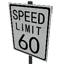 Speed Limit - 60 mph Symbol Style