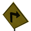 Turn Right Arrow Symbol Style
