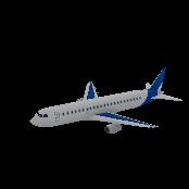 Airplane Large Passenger Symbol Style
