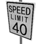 Speed Limit - 40 mph Symbol Style