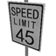 Speed Limit - 45 mph Symbol Style