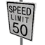 Speed Limit - 50 mph Symbol Style