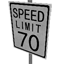 Speed Limit - 70 mph Symbol Style